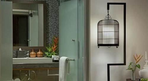 lighting cottage bathroom