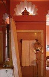 stairs cottage bathroom