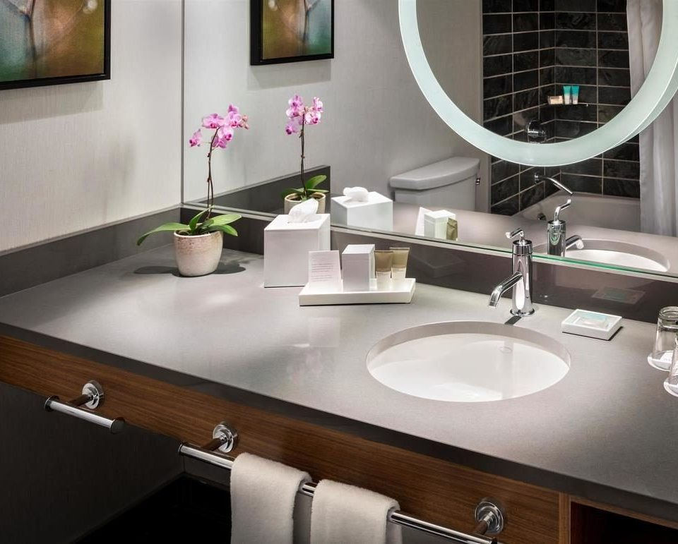 bathroom sink mirror countertop material flooring