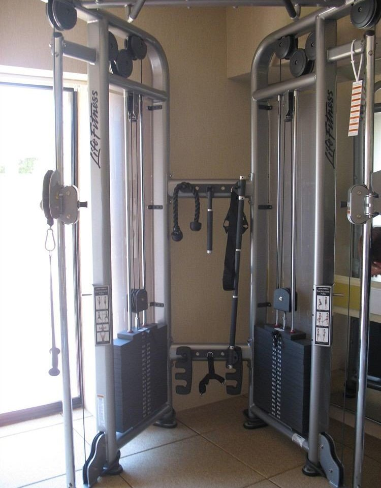 structure gym sport venue door bathroom