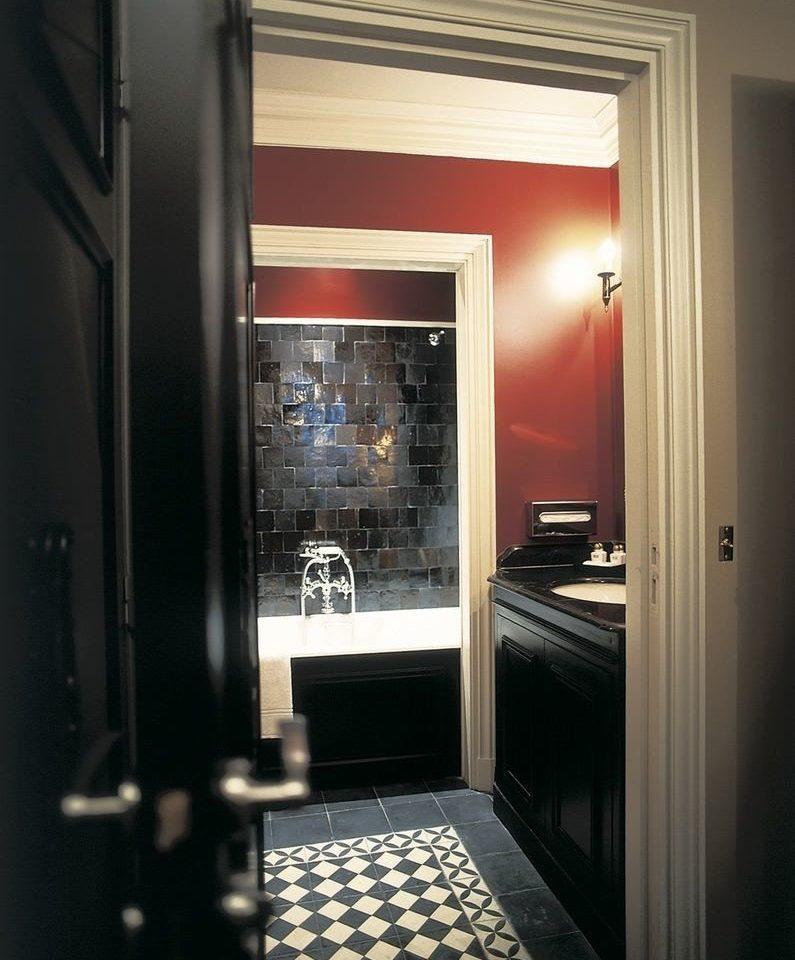 house home lighting door bathroom hall open opened