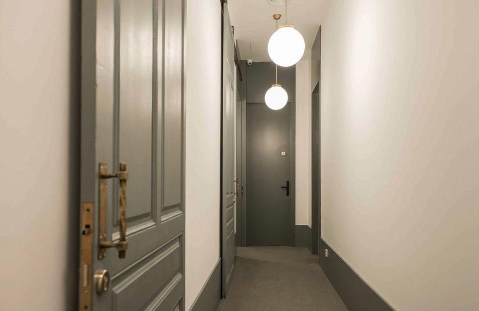 bathroom property lighting door hall stall