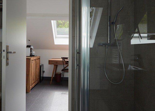 property house home door tiled bathroom