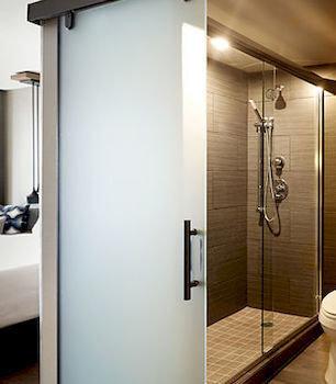 bathroom shower plumbing fixture toilet door