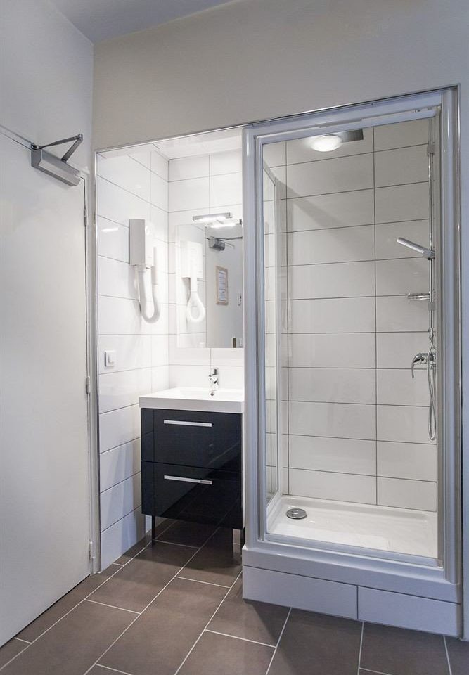 bathroom plumbing fixture white shower door