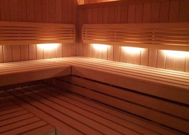 leisure centre swimming pool wooden bathroom hardwood sauna empty