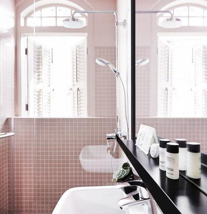 bathroom sink tap tile home plumbing fixture product design flooring glass
