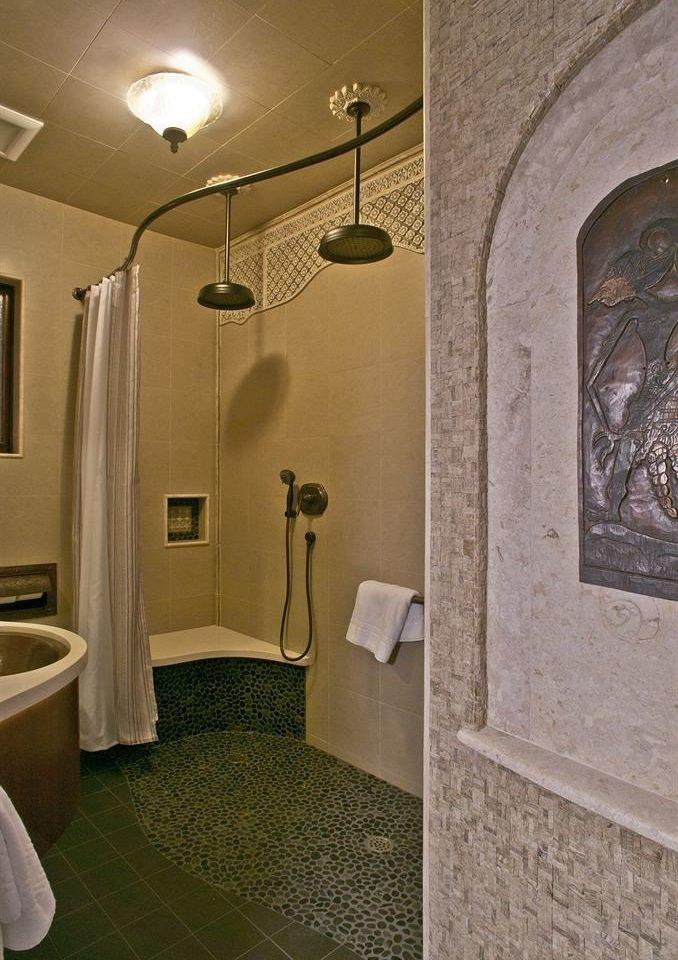 bathroom flooring lighting home sink hall tiled