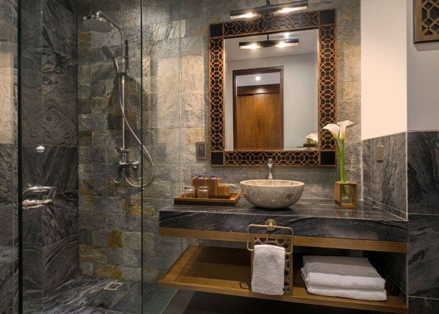 bathroom home flooring plumbing fixture tile stone