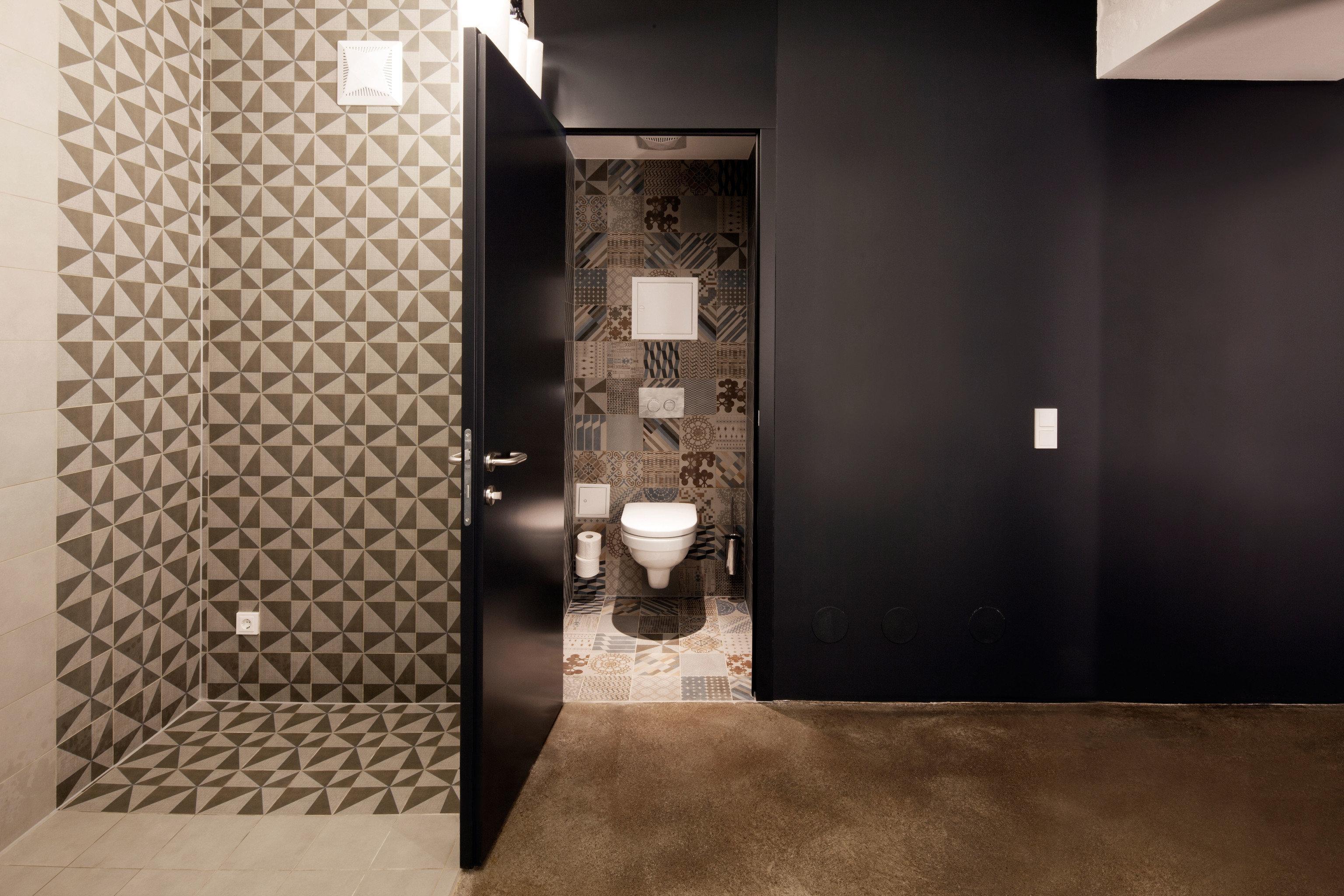 bathroom house flooring lighting tile outdoor object tiled