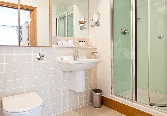 bathroom property mirror toilet sink plumbing fixture flooring rack