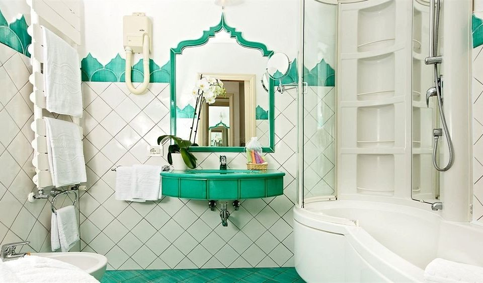 bathroom green toilet home sink tiled tile