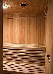 man made object hardwood sauna bathroom