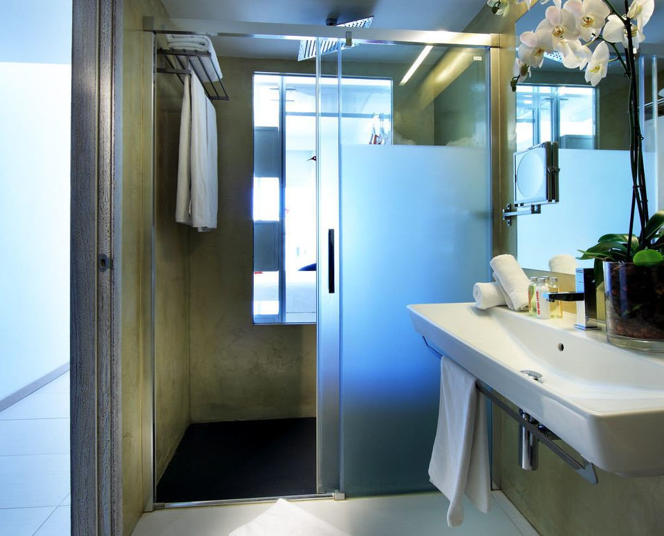 bathroom mirror sink property house home vehicle
