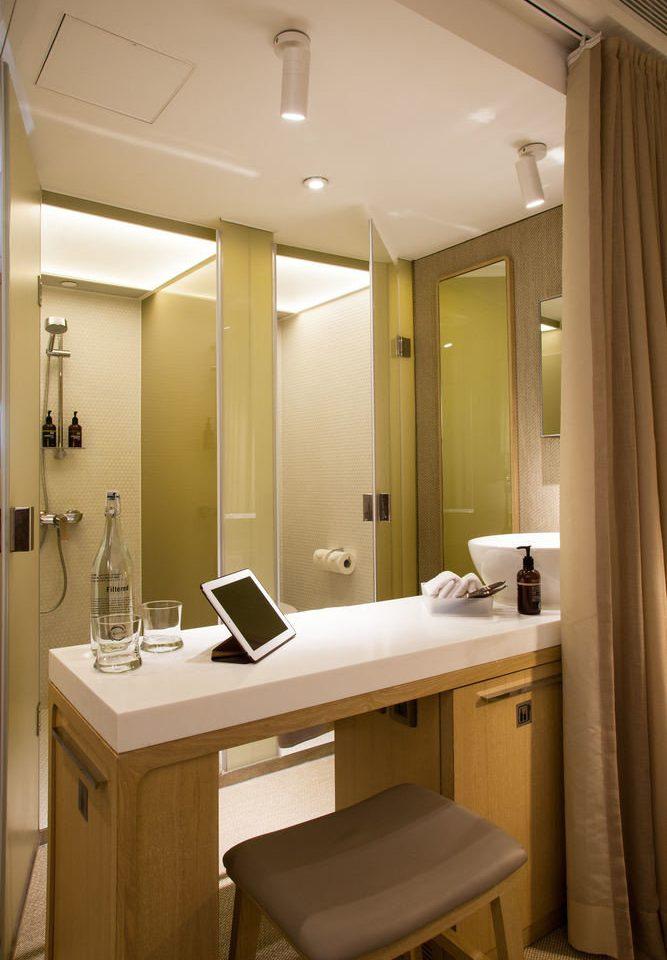 bathroom mirror property home lighting