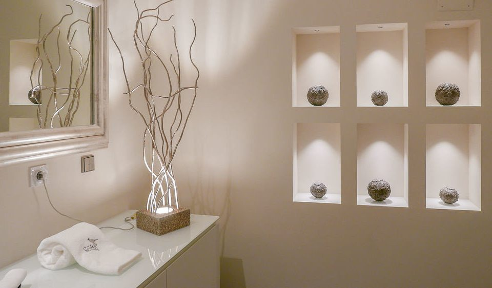 white lighting bathroom home