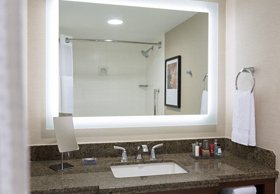 bathroom mirror sink property home plumbing fixture towel living room