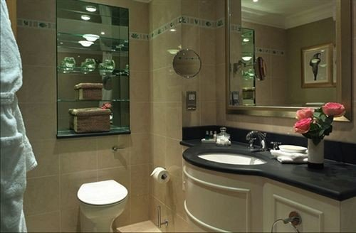 bathroom mirror property sink home plumbing fixture