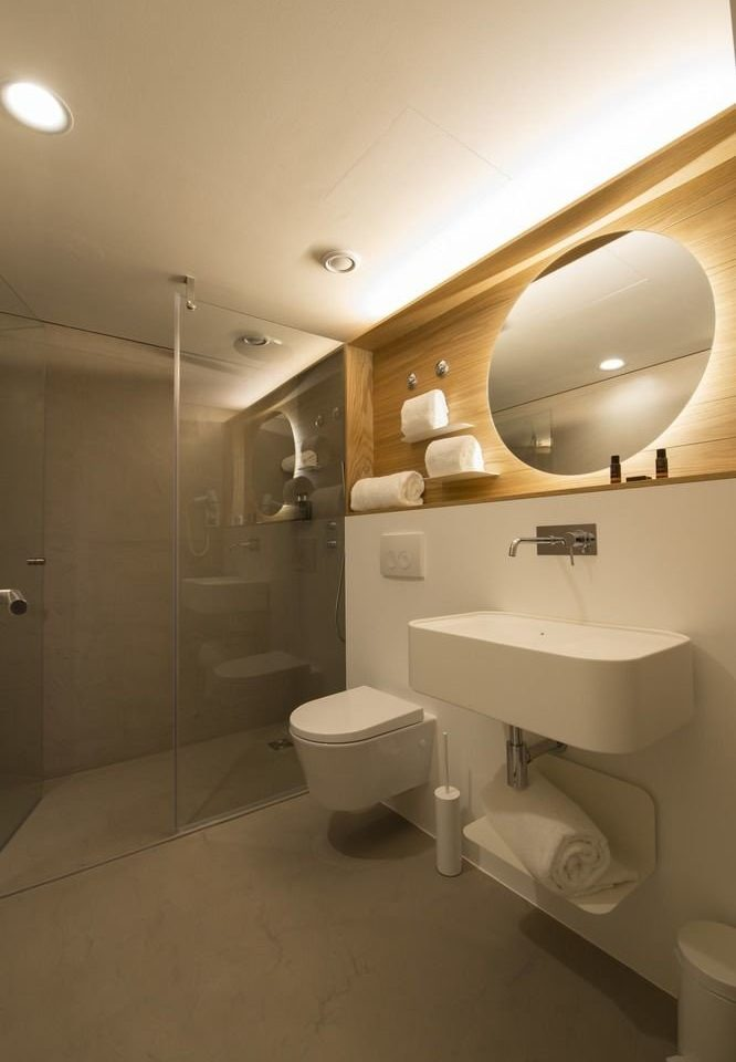 bathroom property mirror toilet sink home