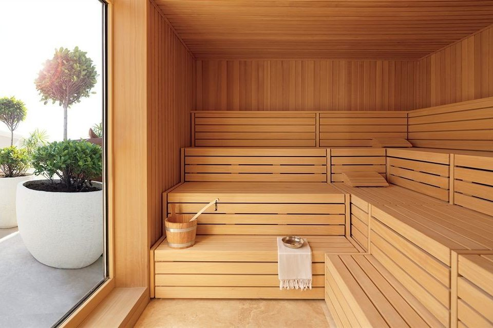 man made object sauna bathroom