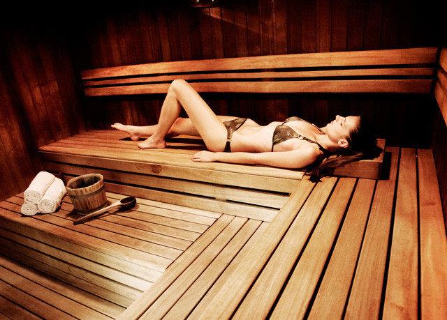 wooden man made object sauna bathroom