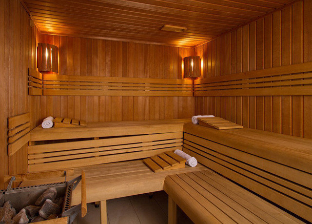 wooden man made object sauna bathroom