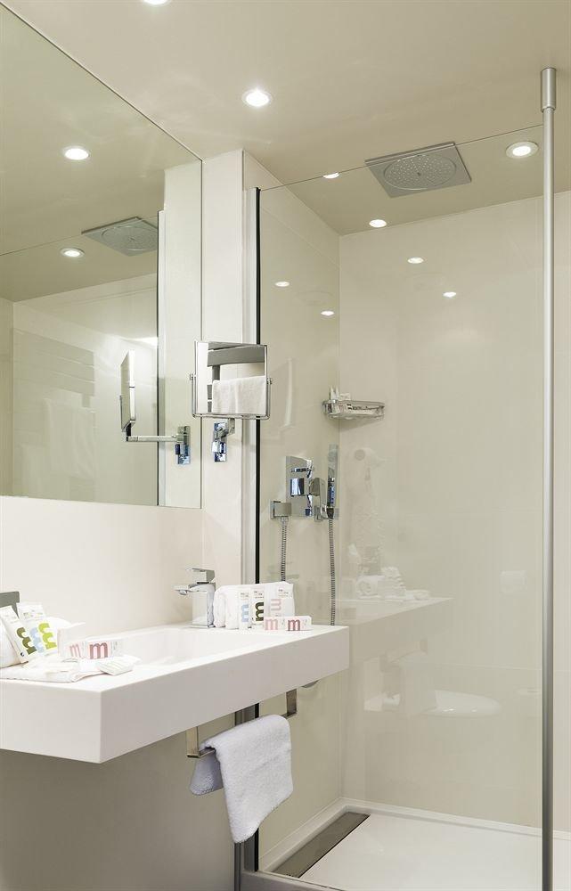 bathroom mirror sink plumbing fixture white medical