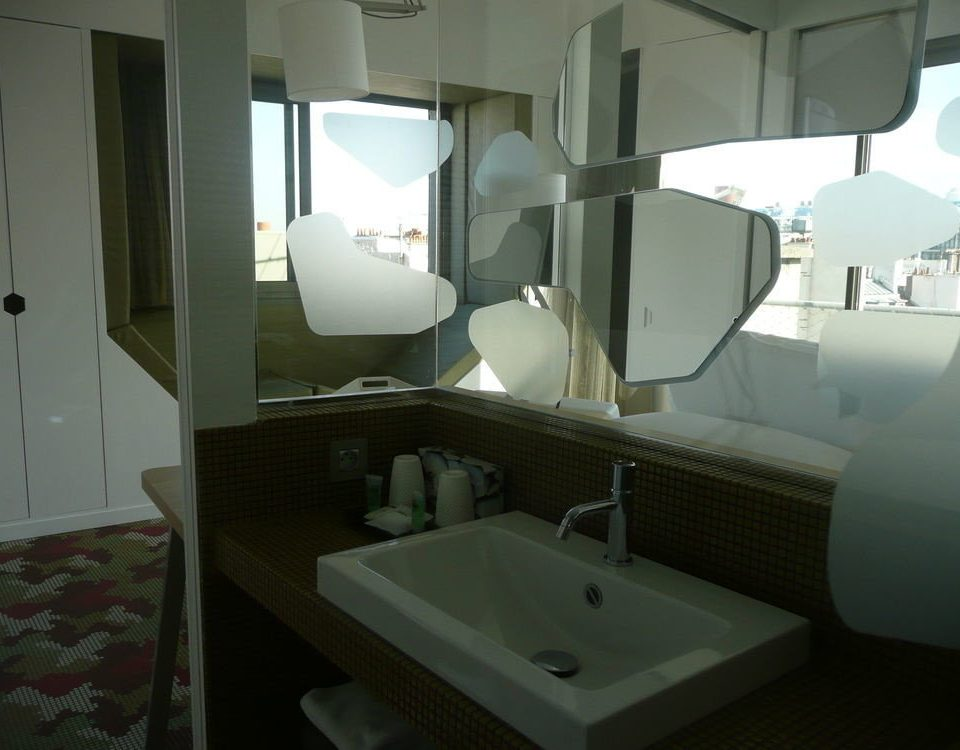 bathroom mirror property vehicle sink