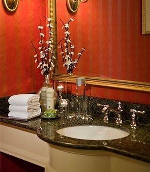 bathroom mirror sink restaurant