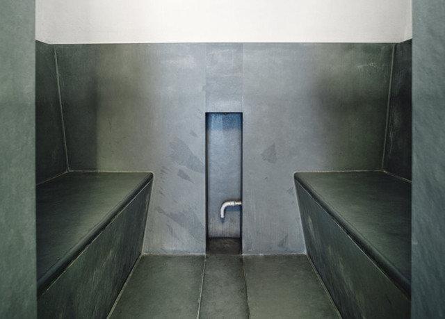 plumbing fixture public toilet toilet step bathroom tiled