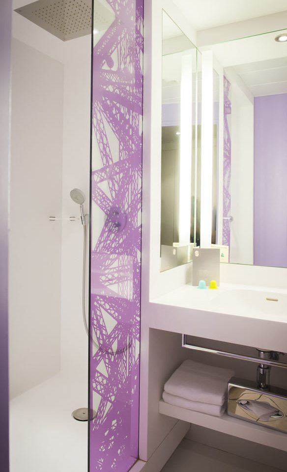 bathroom purple wardrobe plumbing fixture