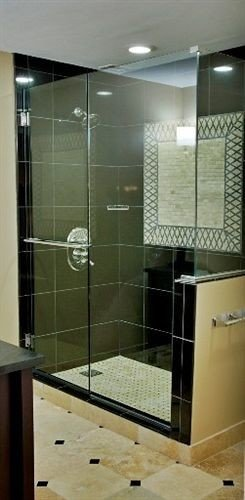 bathroom plumbing fixture shower tiled