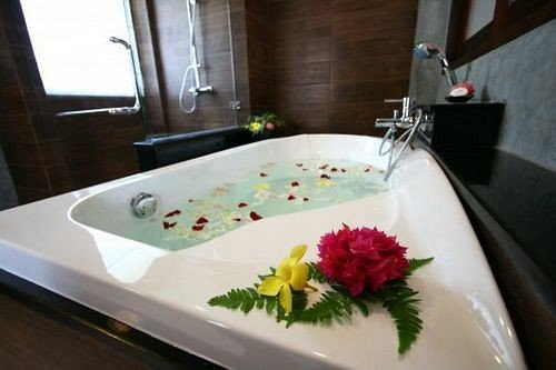 plate swimming pool flower bathtub jacuzzi sink plumbing fixture bidet tub