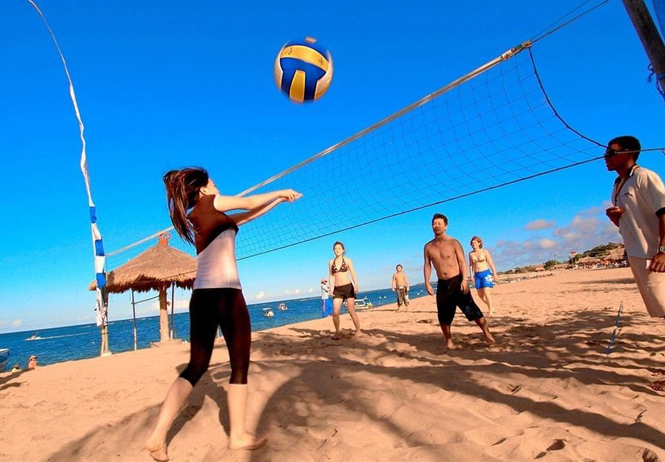 sky Beach ball game sports volleyball beach volleyball ball over a net games sandy
