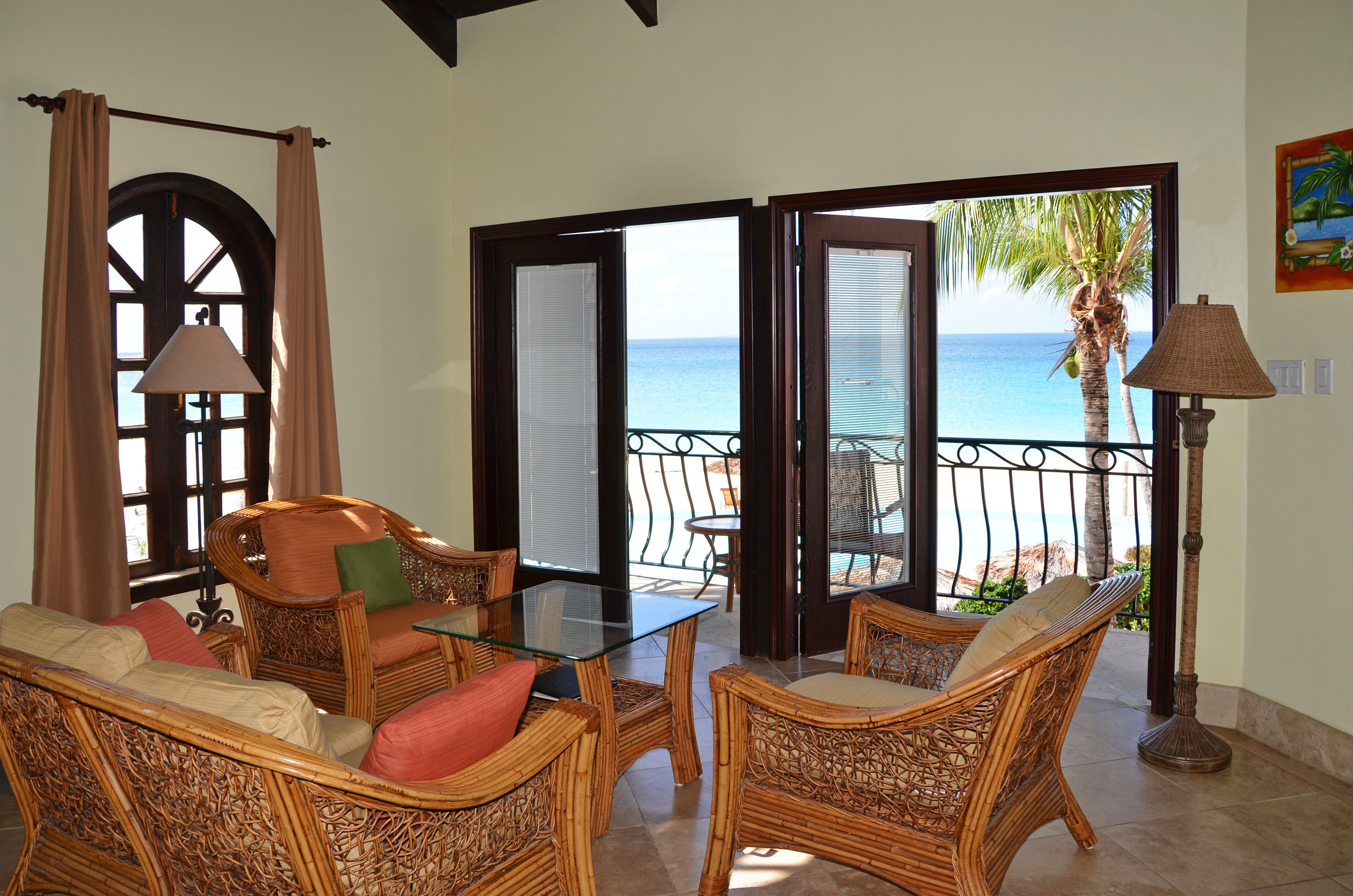 Beach Beachfront Exterior Lounge Ocean chair property living room Villa house home cottage Suite farmhouse mansion Resort hacienda Bedroom
