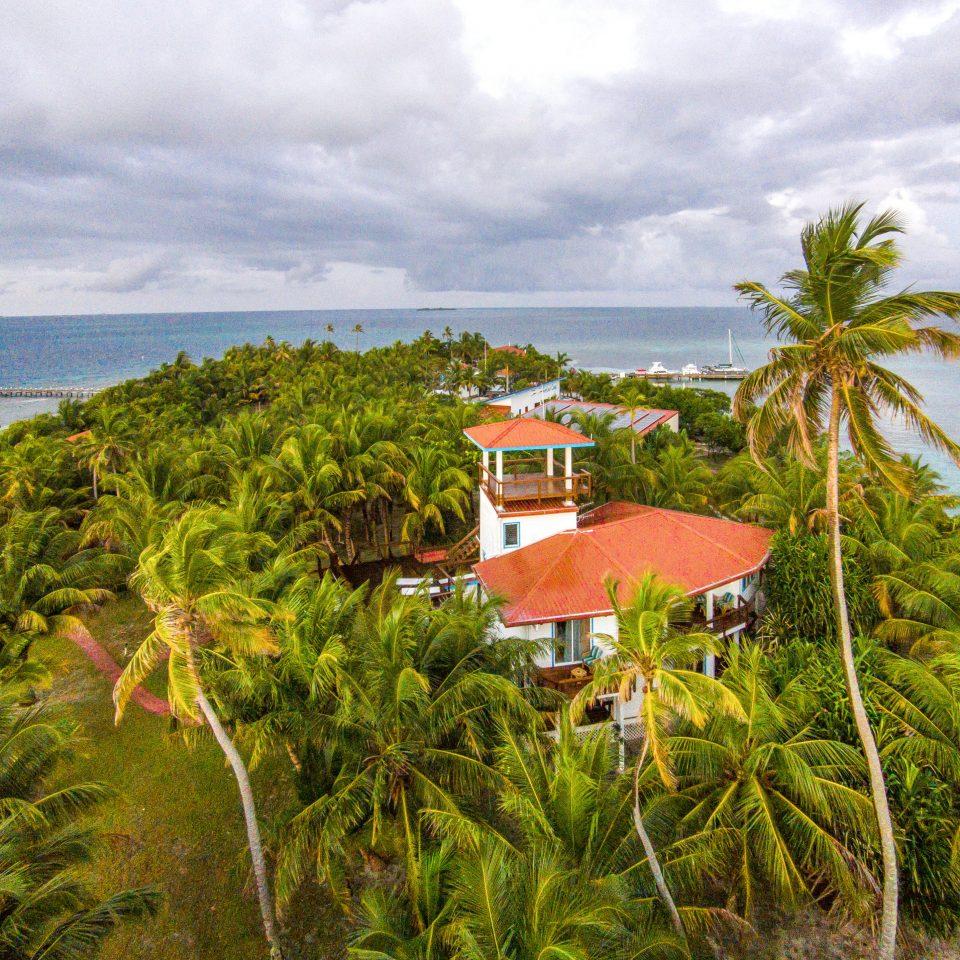 Beachfront Budget Exterior Family Grounds Island Tropical sky tree water Coast Beach Sea shore Ocean caribbean tropics Nature arecales plant cove cape palm lush day