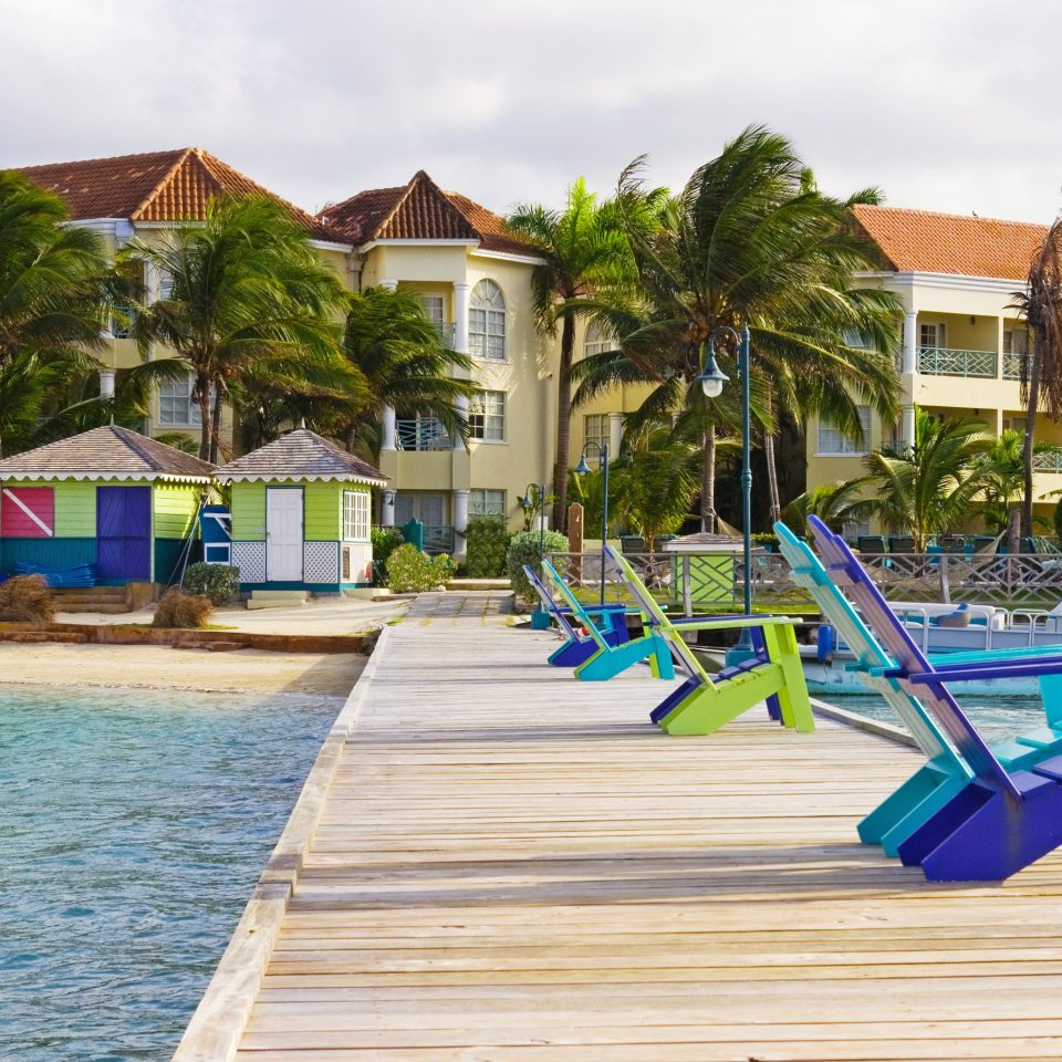 Beachfront Grounds Island ground leisure wooden City public space Resort swimming pool Beach Playground Water park walkway outdoor play equipment dock boardwalk park colorful Deck