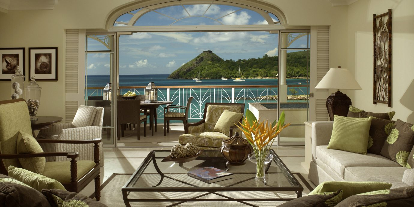 Beach Beachfront Classic Hotels Island Suite sofa living room property home condominium cottage mansion Villa