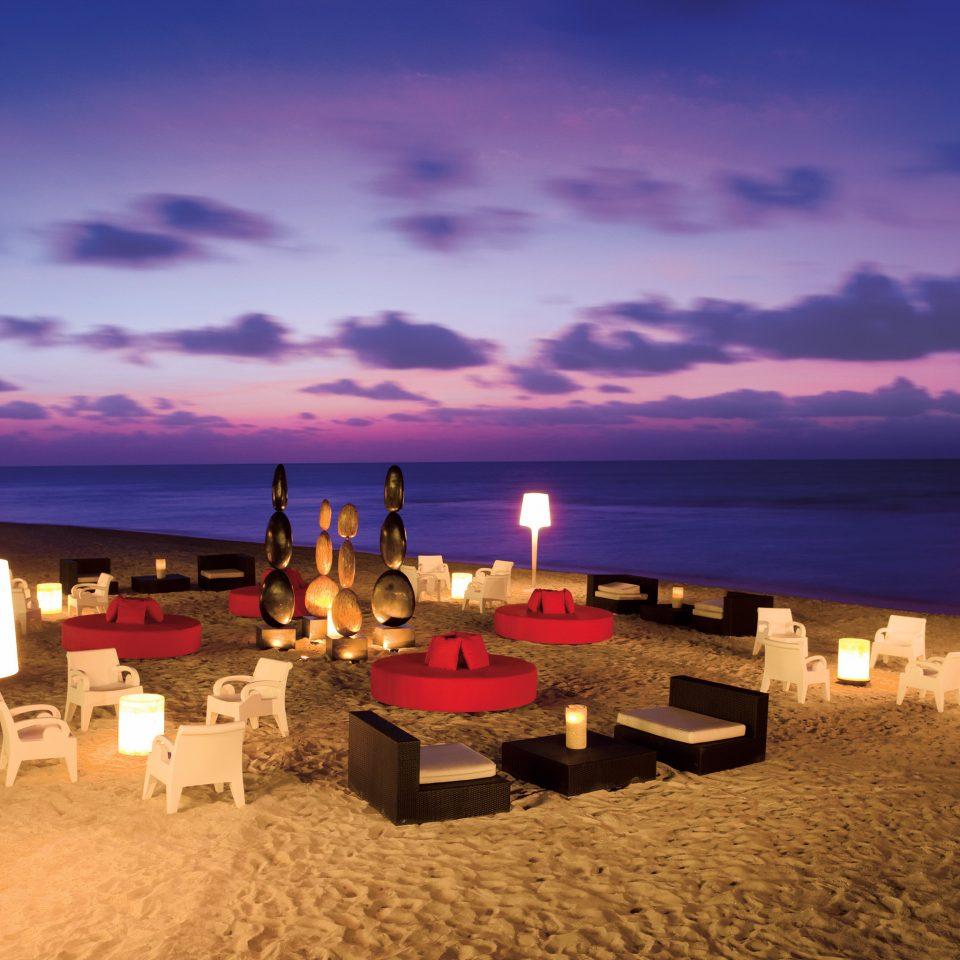 Beach Beachfront Elegant Hip Lounge Luxury Modern Ocean sky Sea horizon Sunset evening dusk Coast Resort sunrise sand sandy