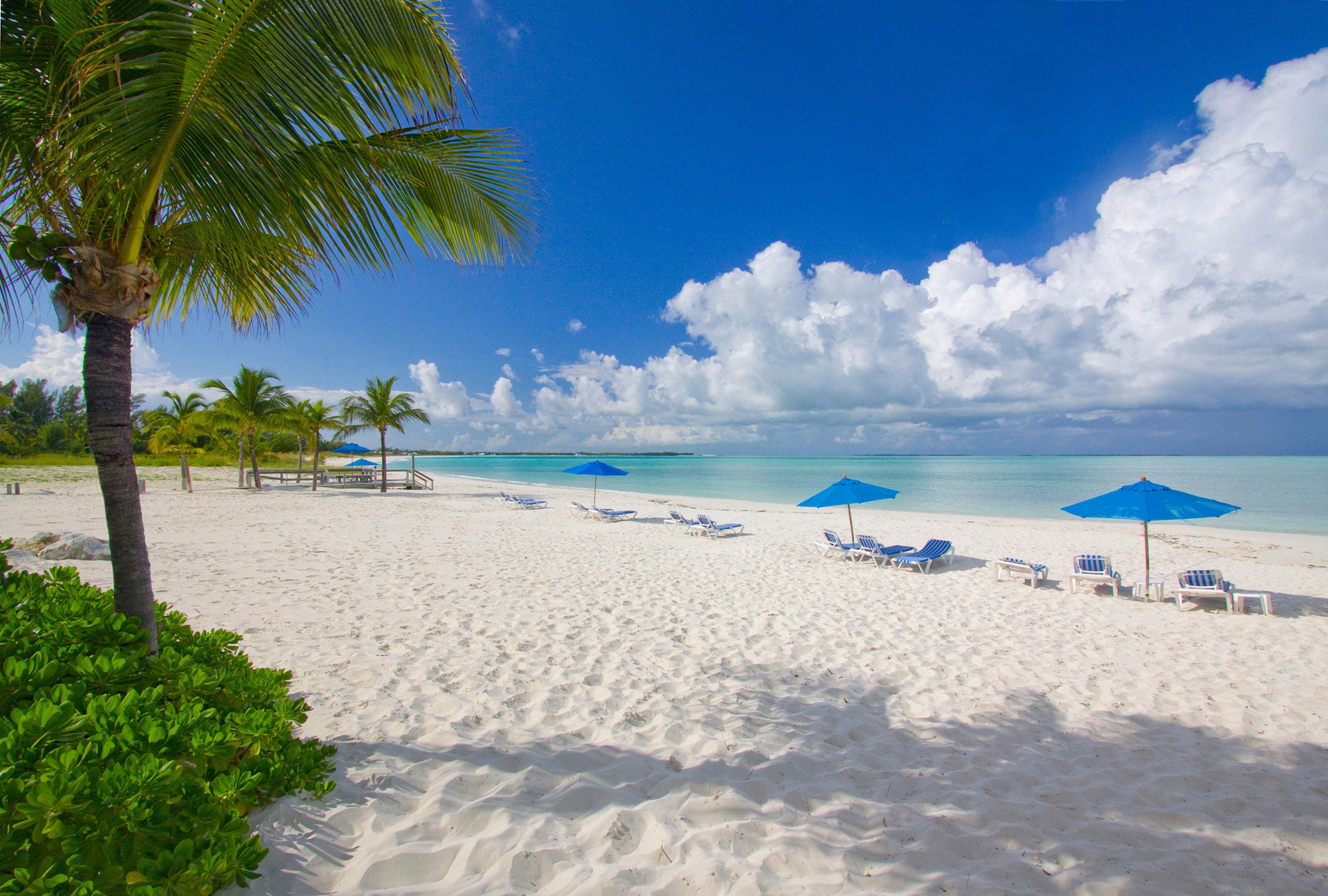 Beach Beachfront Grounds Play Resort sky shore Ocean Sea caribbean Nature Coast palm tropics Lagoon arecales Island cape sand day shade sandy