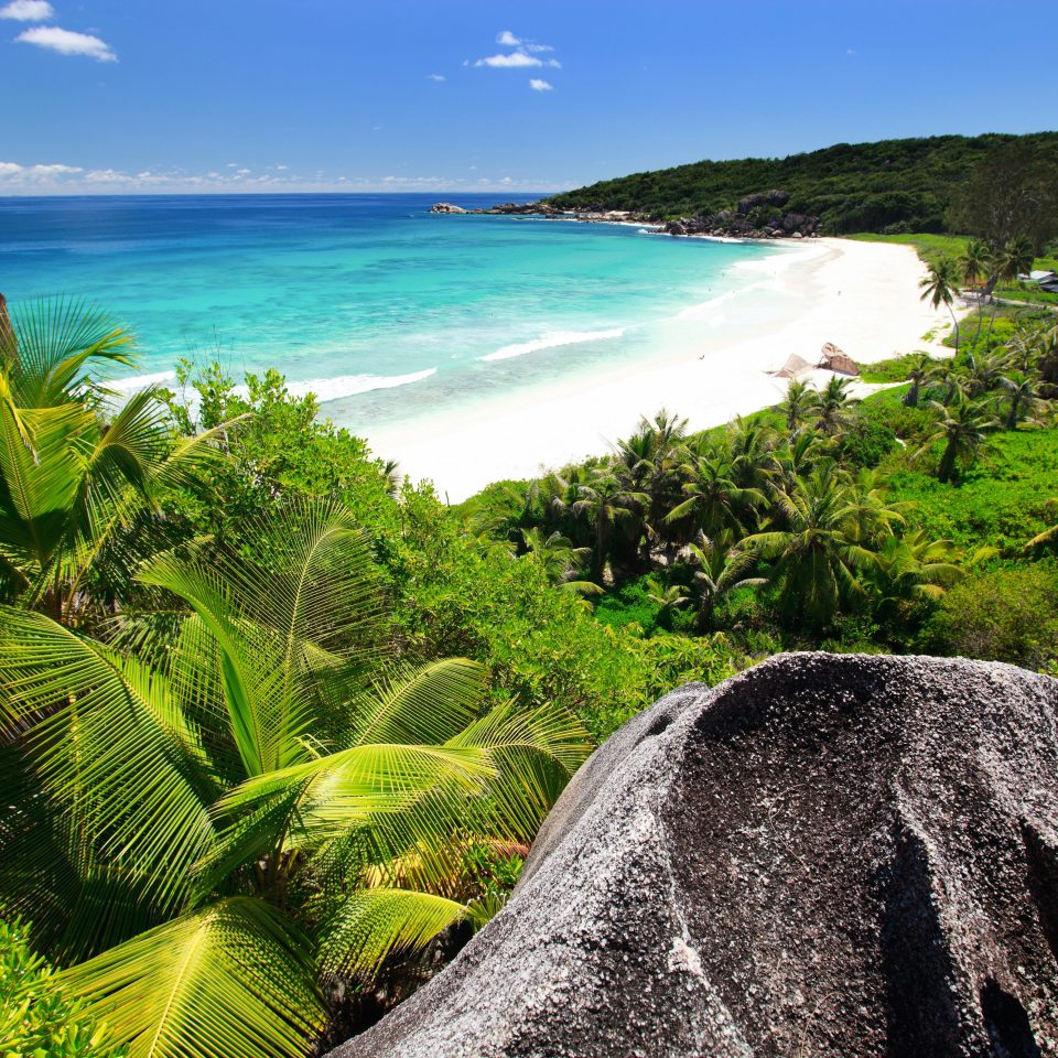 Beach Beachfront Hotels Luxury Ocean Tropical sky water Nature Coast Sea tropics rock caribbean Jungle landscape arecales rainforest overlooking cape terrain plant beautiful