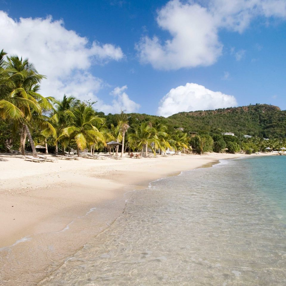 Beach Beachfront Play Scenic views sky water Nature shore Sea Ocean Coast caribbean tropics sand arecales Lagoon cape Island palm sandy day