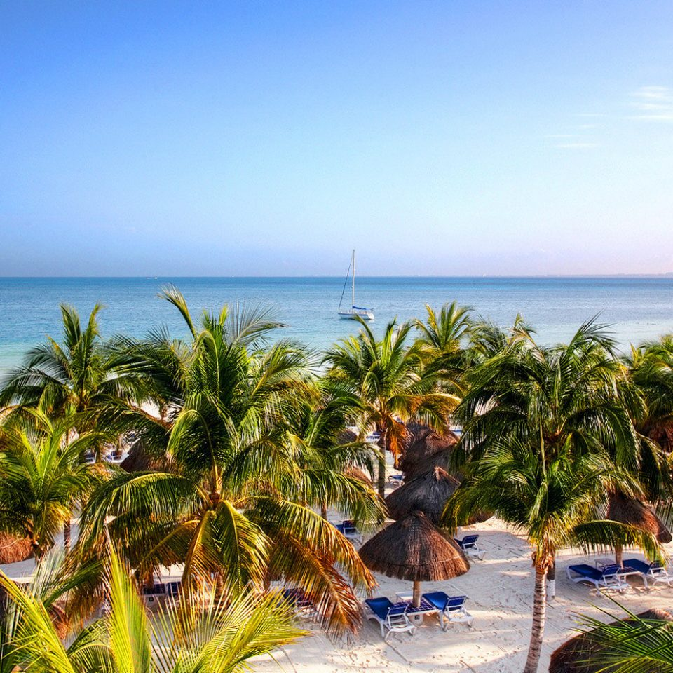 Beach Beachfront Resort Scenic views water sky Nature Sea caribbean tree Ocean shore Coast tropics palm family arecales plant palm cape Island Lagoon sandy shade