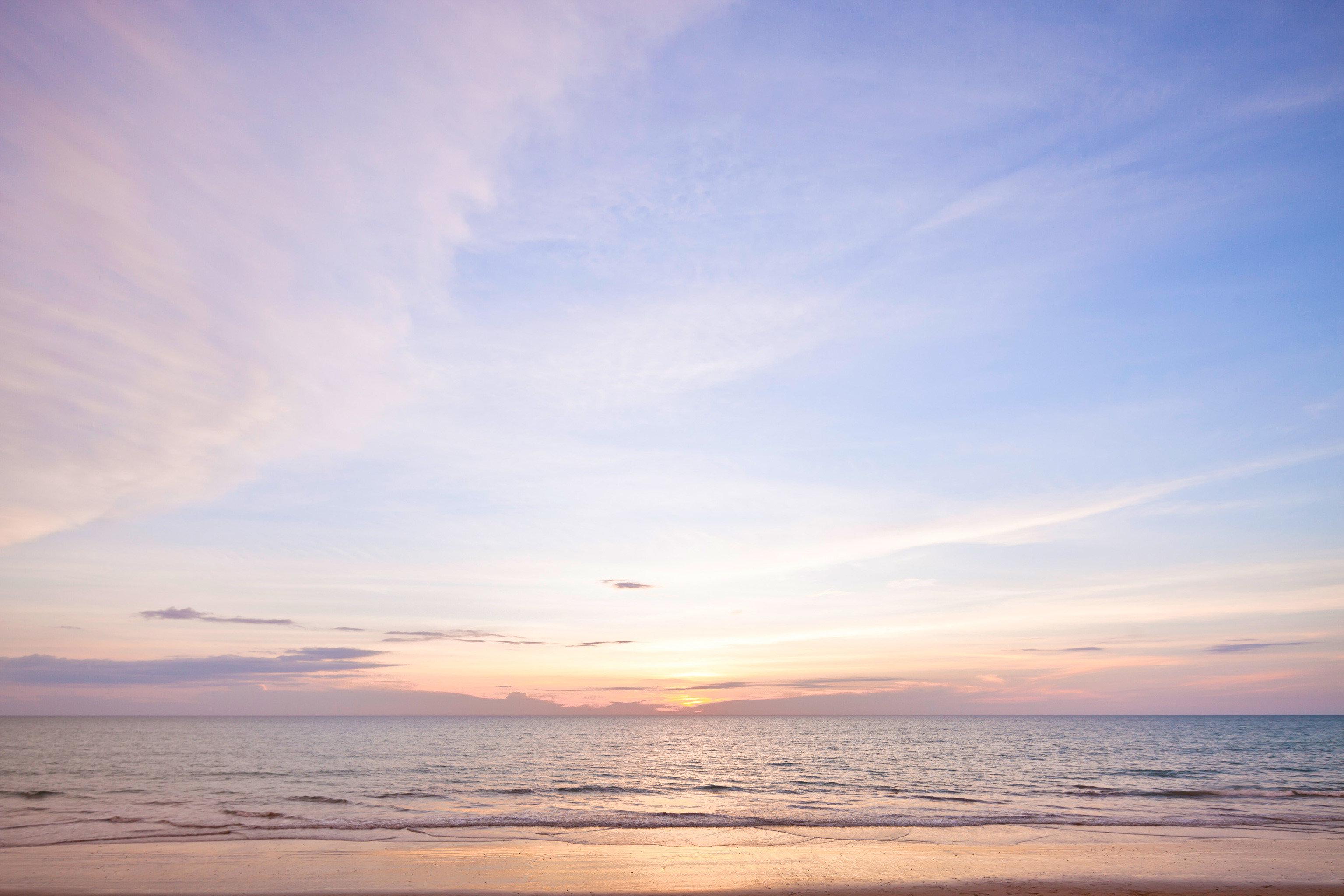 Beachfront Modern Romantic Scenic views sky water horizon Beach Sea cloud Ocean Sunset afterglow Nature sunrise dawn shore Coast morning dusk wind wave evening sunlight wave sandy