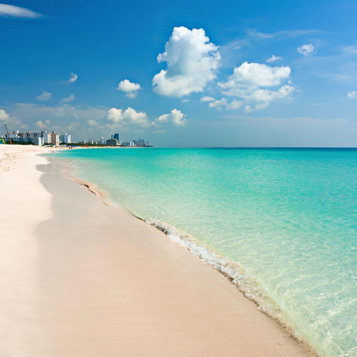 Beach Beachfront Ocean sky water ground Nature Sea shore horizon sand caribbean wave wind wave Coast sunlight cape tropics sandy day