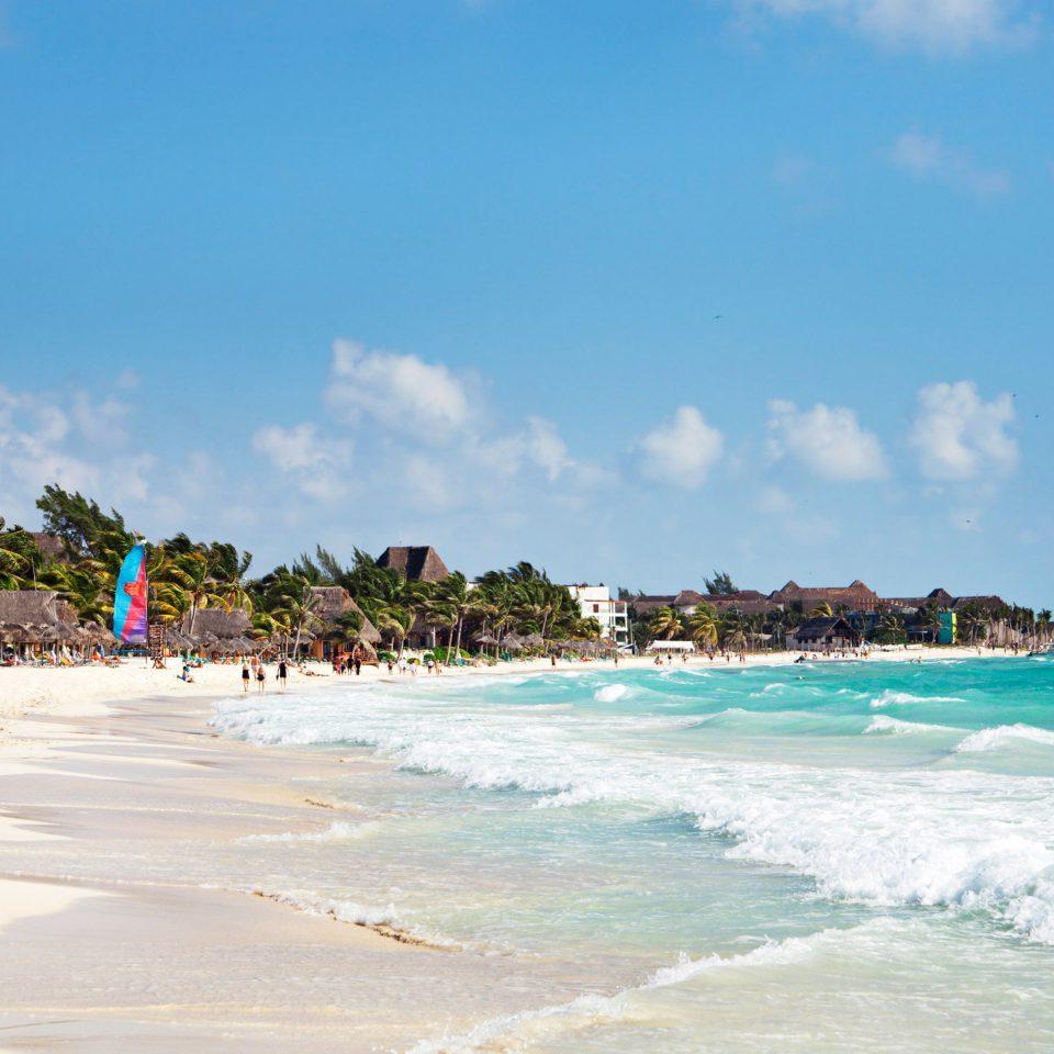 Beach Beachfront Ocean sky water shore Sea Nature Coast wind wave caribbean sand wave cape day sandy sunny swimming