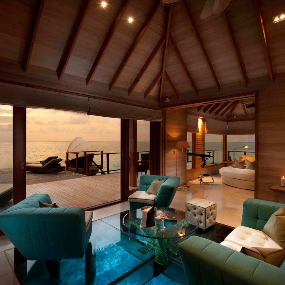 Beach Beachfront Elegant Hip Lounge Luxury Modern Ocean property house Resort cottage home living room Villa