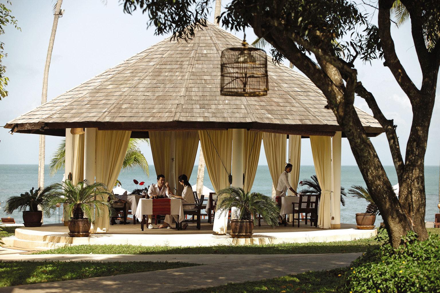 Beach Beachfront Exterior Ocean tree house Resort home restaurant cottage