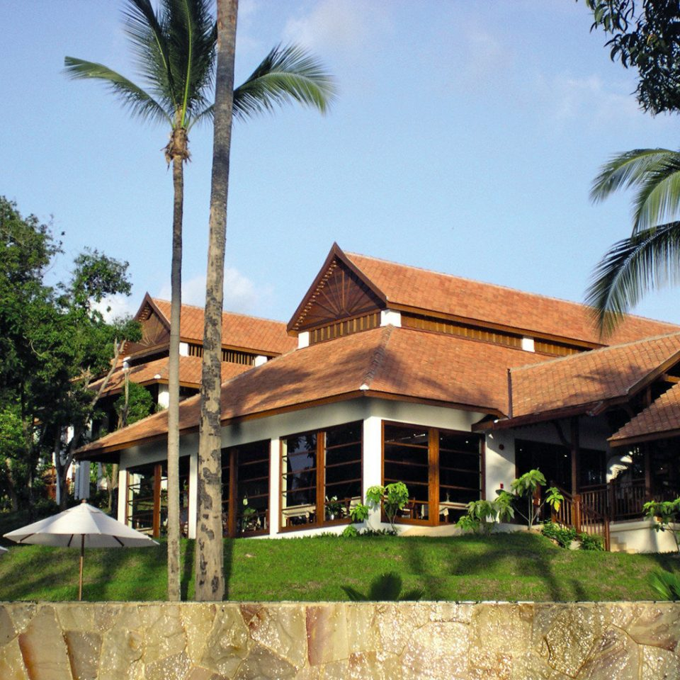 Beach Beachfront Exterior Ocean tree sky property Resort house home arecales Villa Village hacienda cottage plant palm