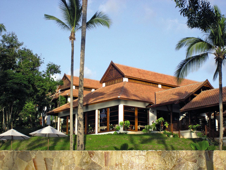 Beach Beachfront Exterior Ocean tree sky property Resort house home arecales Villa Village hacienda cottage plant palm
